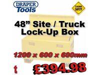 """DRAPER 78787 Site BOX 48"""" 1200MM Lock Up Van Truck Box Vault 1200 x 600 x 600mm"""