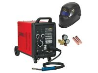 SEALEY SUPERMIG230 PRO MIG WELDER 230AMP 230V WITH BINZEL® EURO TORCH + HELMET