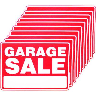 10 X Garage Sale Sign 9 X 12 Inch Size Durable Weatherproof Yard Estate Moving