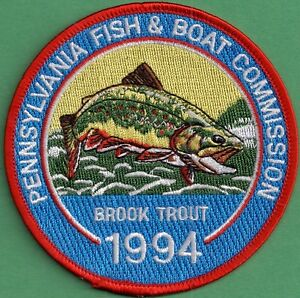 Pa Pennsylvania Fish Commission New 1994 Brook Trout 4