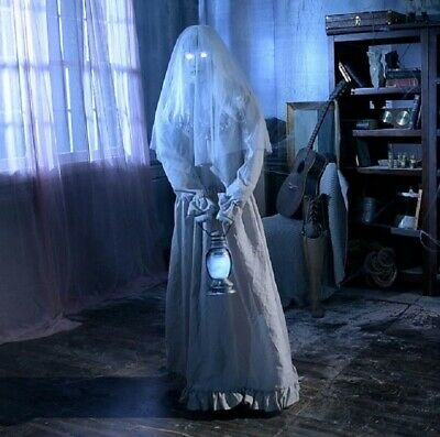 Pre-Order 5' ANIMATED FLOATING GHOST LADY Halloween Prop HAUNTED HOUSE - Ghost Prop