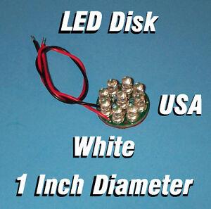 LED DISK - WHITE 1 INCH DIAMETER CIRCUIT BOARD 5MM LEDs 1