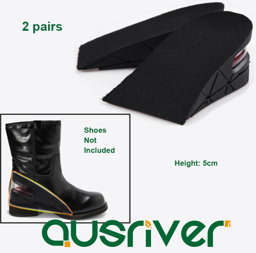 Two Layers Detachable Height Increase Shoes Insoles Heels Lift Grow Tall