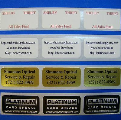 Custom Printed Stickers 1000 Labels 34 X 1-12 Rectangle Business 1-color