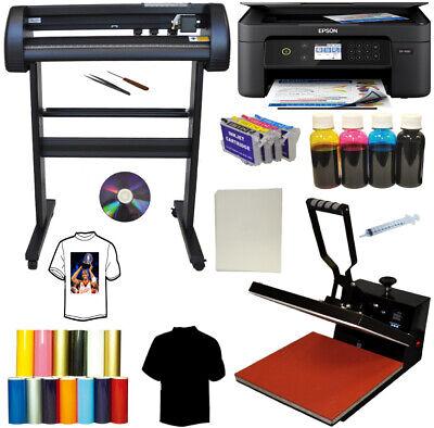 28 Metal Laser Vinyl Cutter Plotter 15x15 Heat Press Sublimation Ink Printer Kit