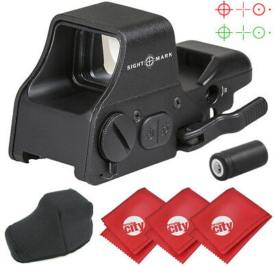 Sightmark Ultra Shot Plus Reflex Red Dot Rifle Sight W  3 Microfibers  Sm26008