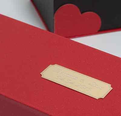 Namensschild Liebesspruch f Klingel Tür Geschenk Verpackung Schild Wunschgravur