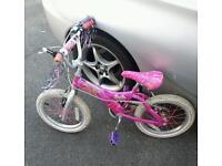 Girls barbie bike