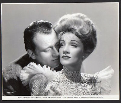 JOHN WAYNE & MARLENE DIETRICH 1942 Vintage Orig Photo THE SPOILERS Romantic
