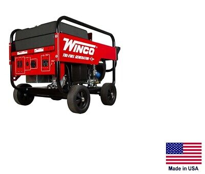 Portable Generator Tri-fuel - Natural Gas Propane Gasoline - 12 Kw - 120240v
