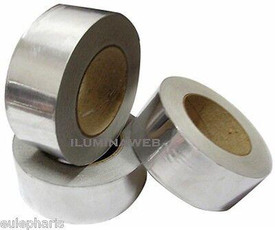 Cinta adhesiva de aluminio 50mm//50m Alta Resistencia Brillo Metal