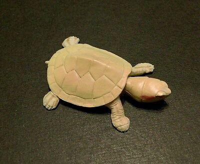 RARE Kaiyodo Choco Q Pet Animal 1 Baby Albino Red Ear Slider Pond Turtle Figure