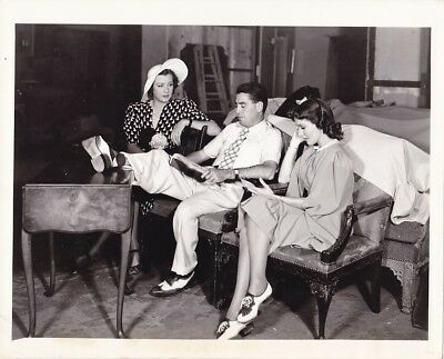 Jean Parker Director Ray Mccarey Vintage 1930S Candid Studio Set Fox Photo
