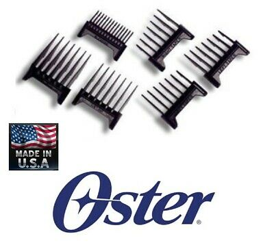 Oster FAST FEED SPEED LINE CLIPPER Blade ATTACHMENT Guide Guard Comb 6 pc Set