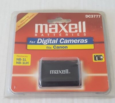MAXELL DC3777 LITHIUM ION RECHARGEABLE BATTERY FOR CANON REPLACES NB-1L, NB1LH (Canon Nb 1lh Rechargeable Battery)