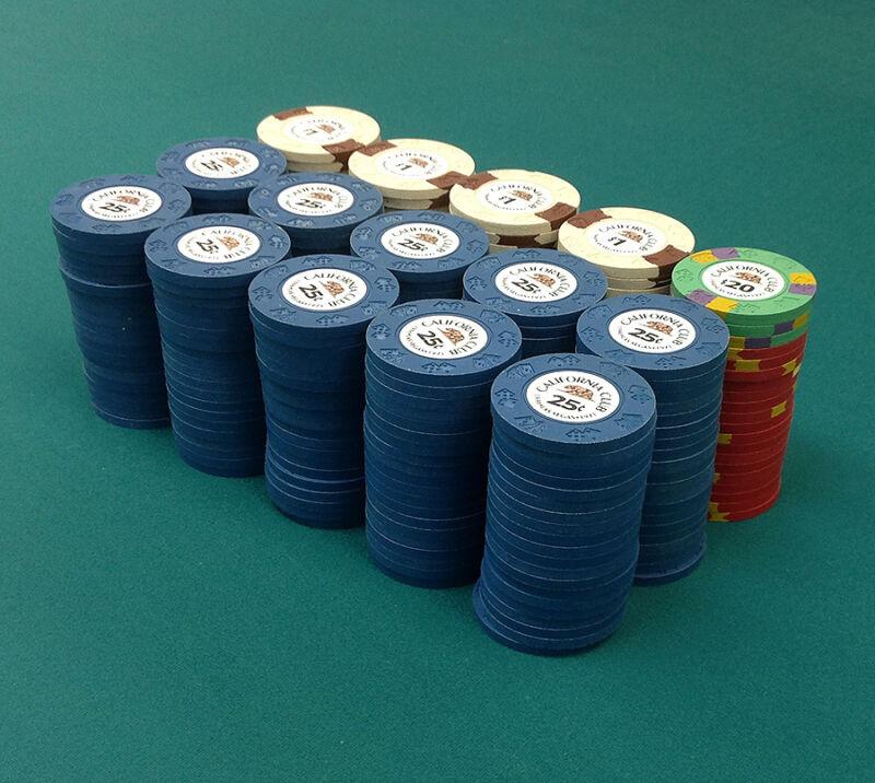 300 Piece ASM California Club Commemorative Diecar Poker Chip Set Las Vegas NEW