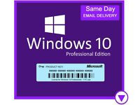 Microsoft Windows 10 Pro Key Activation - Genuine Product License Code Available in 32 + 64 bit