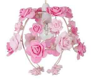 Modern Pink Flower Easy Fit Light Lamp Ceiling Shade Chandelier Shabby Chic