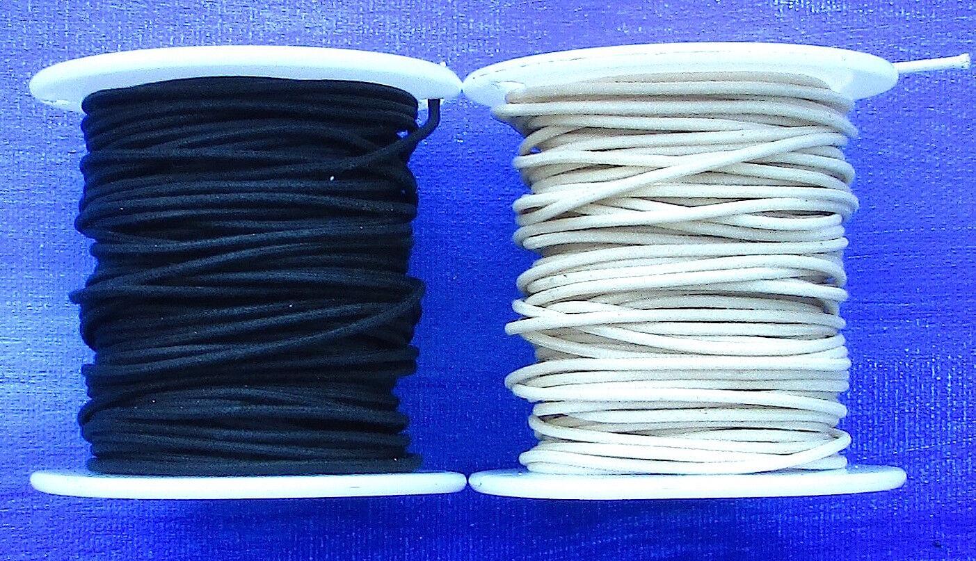 50 Ft Gavitt White Cloth Push Back 22ga Wire For Vintage Guitar On Spool feet