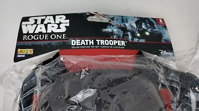 DEATH TROOPER Star Wars Rogue One Halloween Costume Size 4-6 Mask Shirt Top NEW