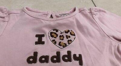 Gebraucht, Pullover ☆ Pulli ☆ Langarmshirt ☆ Gr.86 ☆ Mädchen Baby Kinder ❤️I love Daddy gebraucht kaufen  Karlsfeld