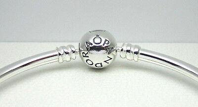 Authentic Pandora  590713 19 Bangle Bracelet Sterling Silver 19Cm