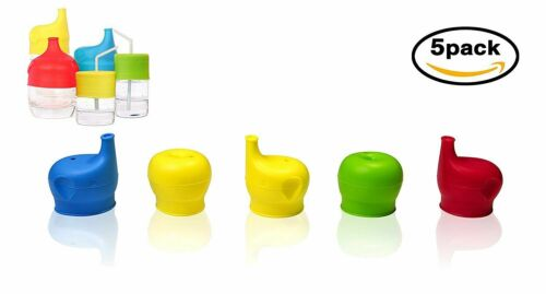 Silicone Sippy Cup Lids Elephant Sippy Spout Spill-Proof Cover Toddler byJJMG