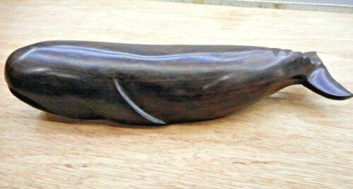 Ironwood polished Dark Wood Whale Figurine