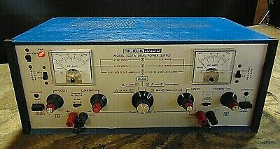 Vintage- Hickok 5057 A Laboratory Dual Power Supply Multiple Outputs