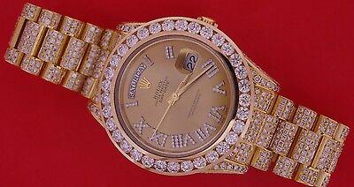 22.80 Carat White Diamonds Rolex Day-Date President II 2 218238 18K YG ASAAR