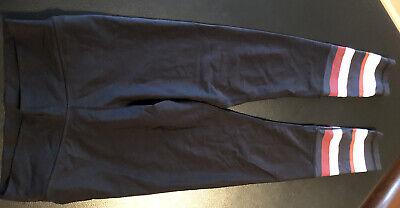 The Upside Women's Leggings Black w/stripes Size 6 EUC