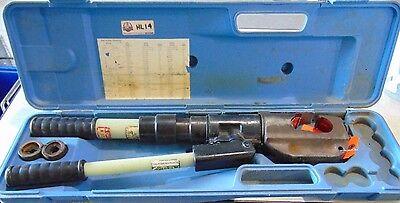 Hi-line Compression Tool Hl14 Lug Crimper With 2 Dies