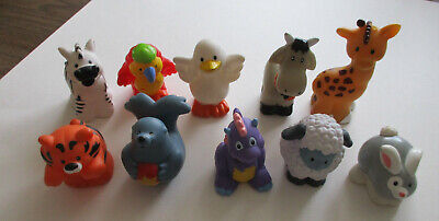 Lot of 10 Fisher Price Little People Mixed Animals (lot#1)