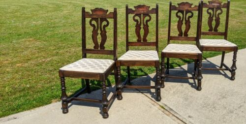 Jacobean Antique Dining Side Chairs