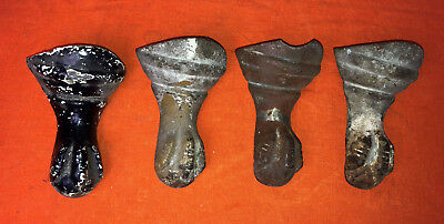 antique architectural SALVAGE CAST IRON CLAW BATHTUB FEET set of 4