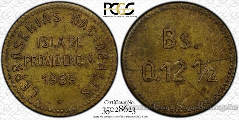 Venezuela 12 1/2 Centimos 1939 MS62 PCGS brass KM#L20 Leper Colonies Gem