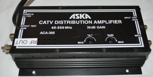 ASKA CATV Distribution Amplifier 45-550 MHz 30dB GAIN