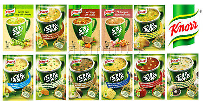 Instant Cup Noodles (KNORR Cup a Soup Instant Soup with Croutons & Noodles Wide Selection of)