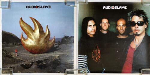 AUDIOSLAVE s/t 2002 US Epic Records PROMO POSTER Double Sided CORNELL Morello