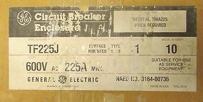 Ge General Electric Type 1 12 Breaker Encl W Rotary Disconnect Handle Tf225j