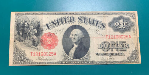 1917 $1 Legal Tender Note Large Size Currency
