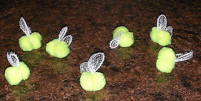 Bee Craft - 7 Seven 3D Nuclear Neon Yellow Hand Crafted Bugs Bees Spring Wreath Accent