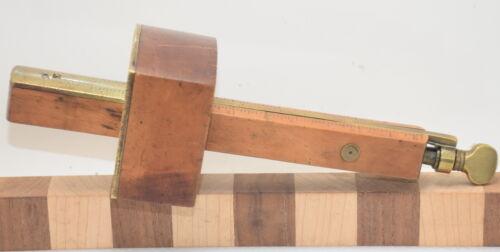 Vintage Disston & Morss Boxwood & Brass Butt Mortise Gauge (INV K858)