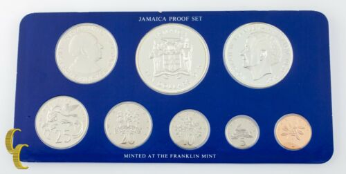 1975 Jamaica 8-Coin Proof Set The Franklin Mint w/ Box & CoA