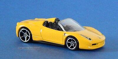 2012 Hot Wheels Loose Ferrari 458 Spider Yellow Brand New Combine Shipping