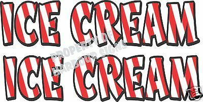 Ice Cream Decal 2 18 Concession Restaurant Van Food Truck Vinyl Letters