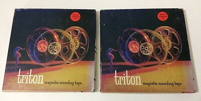 (2) TRITON Used Vintage Reel to Reel Tapes 7 1/2 & 3 3/4 IPS Recorded Orchestra