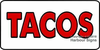 Choose Your Size Tacos Decal Concession Food Truck Vinyl Menu Sign Sticker