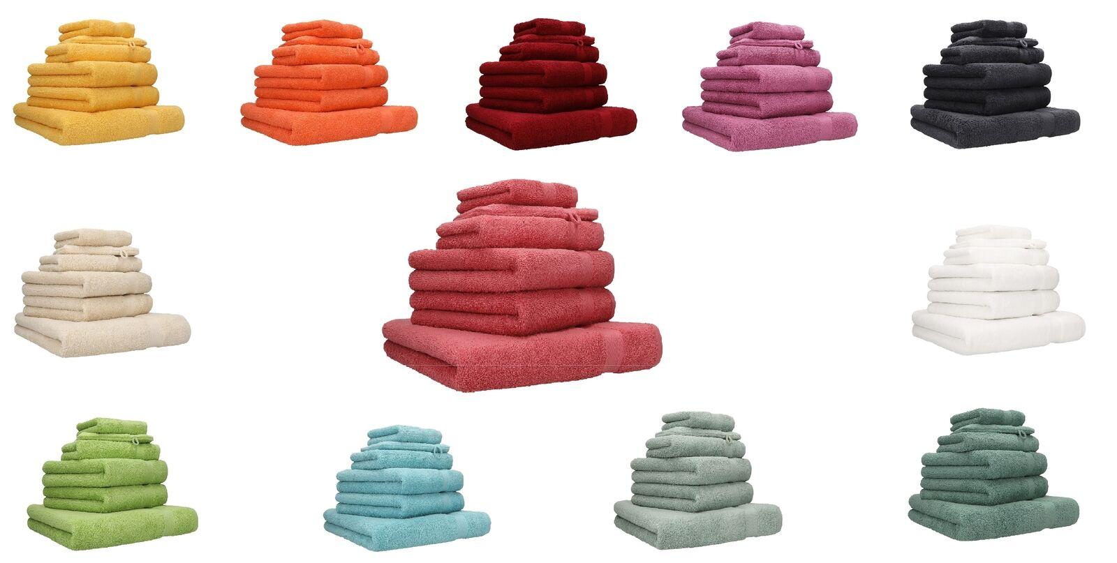 Betz 6er Handtuch Set Handtücher PREMIUM 100% Baumwolle  verschiedene Farben