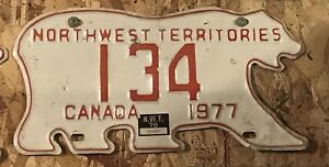 1977 North West Territories license plate